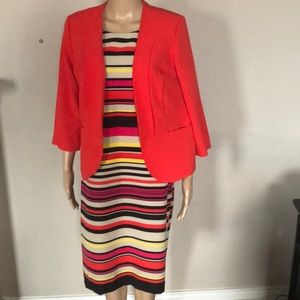 Multi color Danny and Nicole dress with coat.